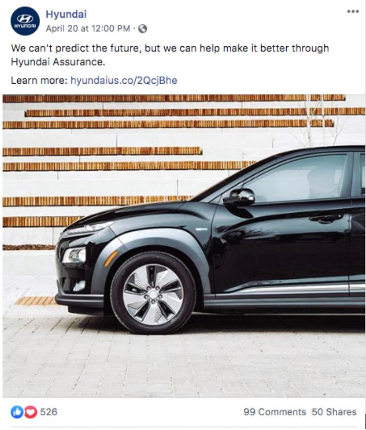 Hyundai Instagram post